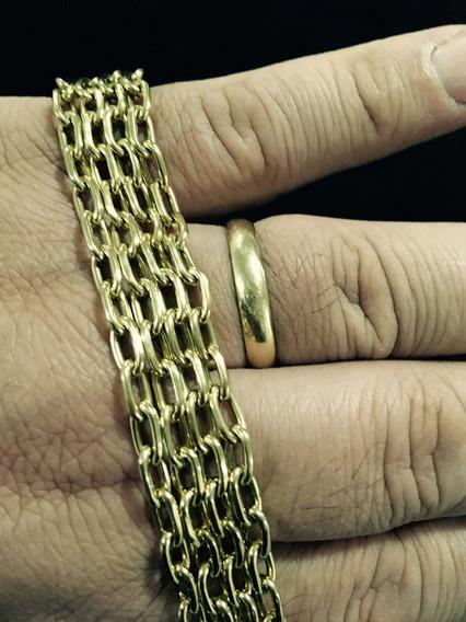 Corrente Ouro Maciço Ouro 18k Elo Cartier 65 Cm Comprimento