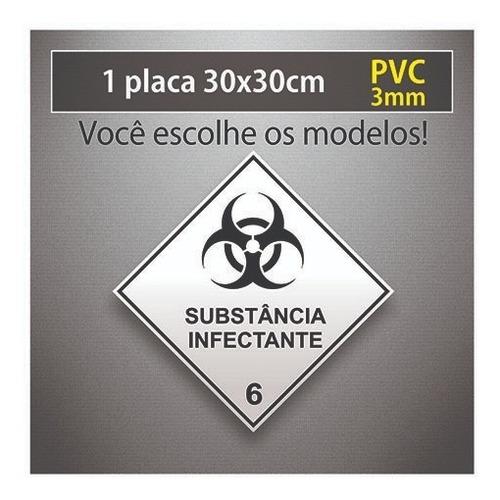 Placa Rótulo De Risco - 30x30cm - Nbr 7500 - Pvc 3mm