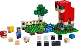 Minecraft La Granja De Lana Int 21153 Original Lego