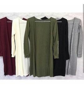 Maxi Cardigan Longo Blusa Feminina Inverno Lançamento 2019