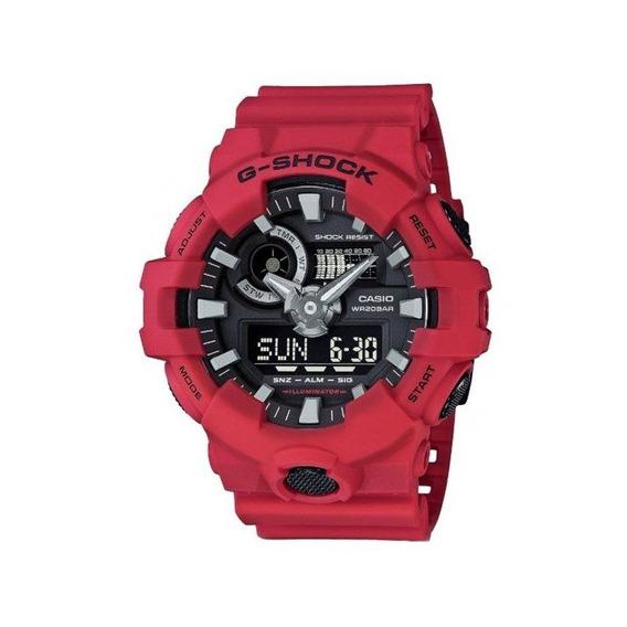 Relógio Casio Masculino G-shock Vermelho Ga7004adr