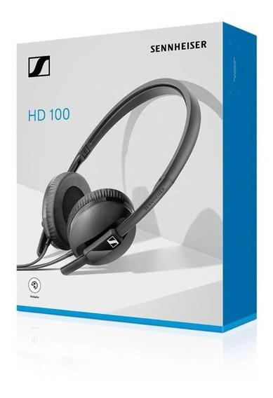 Fone De Ouvido Headphone Sennheiser Hd100 Dobravel Nf Origin