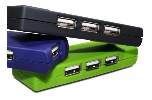 Hub Slim 4 Puertos Klip Xtreme Kuh-400b Pc Notebook Usb Febo