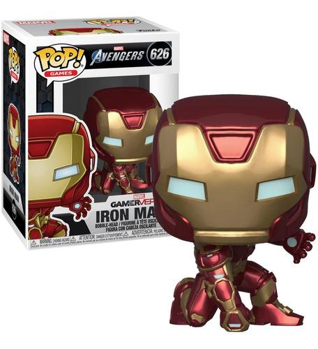 Funko Pop! 626 Iron Man Game Reverse Avengers Marvel Candos