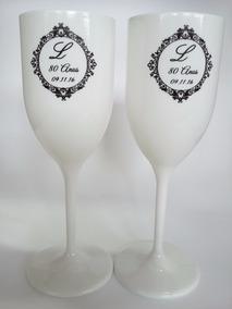 50 Taça Brancas Personalizadas Para Casamento Ou Debutante.