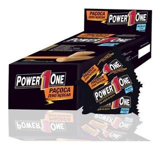 Paçoca Rolha Power One Zero Caixa Com 24 Unid