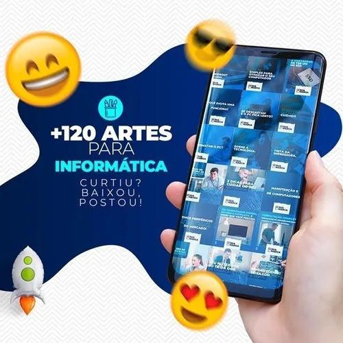 2 Pacote De Arte Editavel Assistencia Celular + Informatica