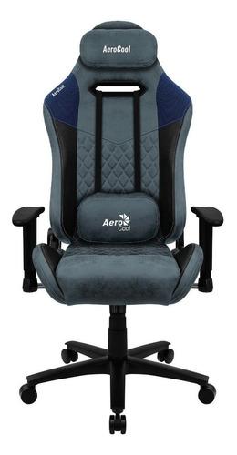 Imagen 1 de 2 de Silla de escritorio AeroCool Duke gamer ergonómica  steel blue con tapizado de cuero sintético y piel sintética