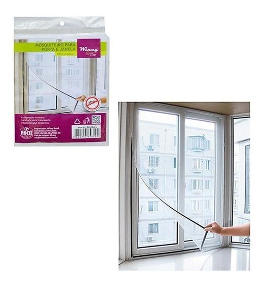 Tela Mosquiteiro De Poliester Para Com Velcro 125x125