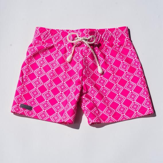 Traje De Baño Niño Aztec Pink Short Pamela De Haro
