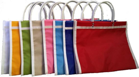 100 Bolsas Mandado De Plastico Canasta, Grande 38x34x11