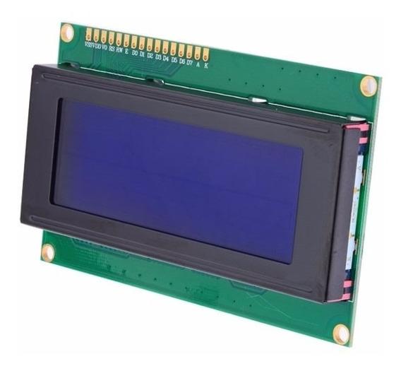 Display Lcd 20x4 Backlight Azul E Escrita Branca