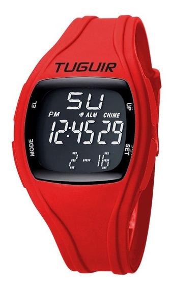 Relógio Unissex Tuguir Digital Tg1602 Preto E Vermelho