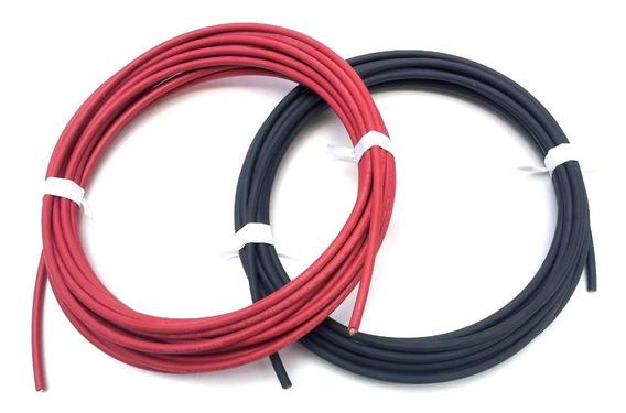 Cable Solar 10awg Recubrimiento Xlp 15m Rojo + 15m Negro