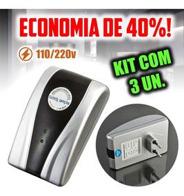 3 Un. Economizador Energia Elétrica 30kw Bivolt 40% Economia