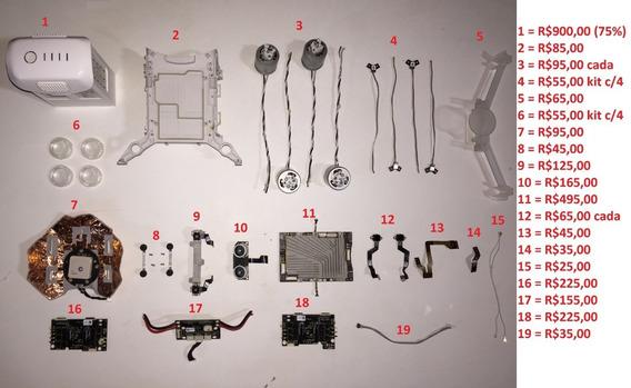 Peças Gimbal Bateria Drone Dji Phantom 4 - Pergunte Antes!!!