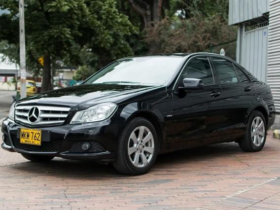 Mercedes Benz C180 2012 Negro 4 Puertas