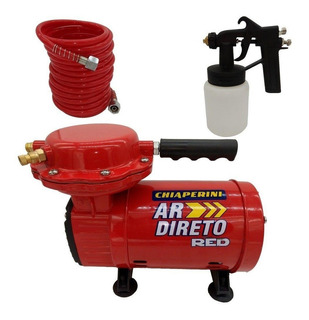 Compressor Ar Direto (tufão) Red +pistola Pintura Chiaperini