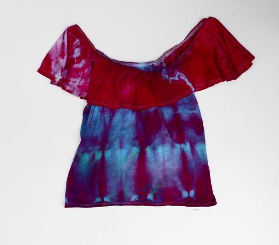 Polera Calandrinia - Kund Teñido Shibori - Tie Dye /handmade