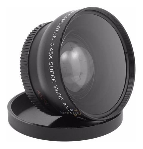 Lente Grande Angular Wide 0.45x 58mm + Macro Universal