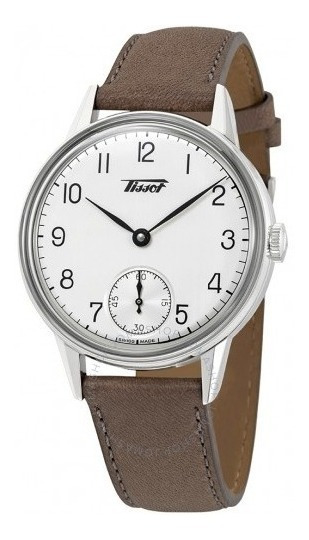 Relógio Tissot Heritage Mecânico Manual Marrom/cinza/couro
