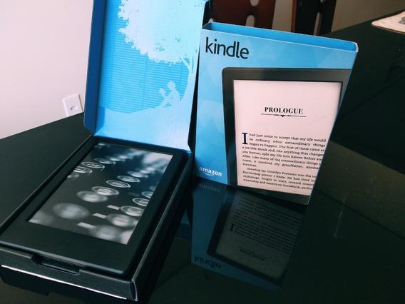 Kindle 8ª Geração - Cor Preta - Com Capa De Proteção - Pouco