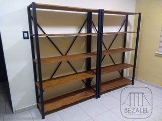 Estanterias Bibliotecas Industriales Hierro Madera