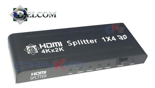 Splitter Hdmi 1x4 Gt 1 Entrada 4 Salidas 1080p Full Hd 3d Tv