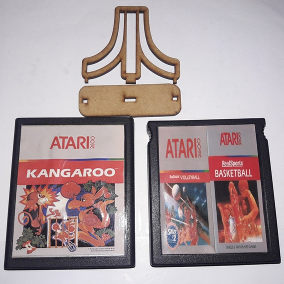 Kangaroo + 2 In 1 Volleyball/ Basketball Para Atari 2600