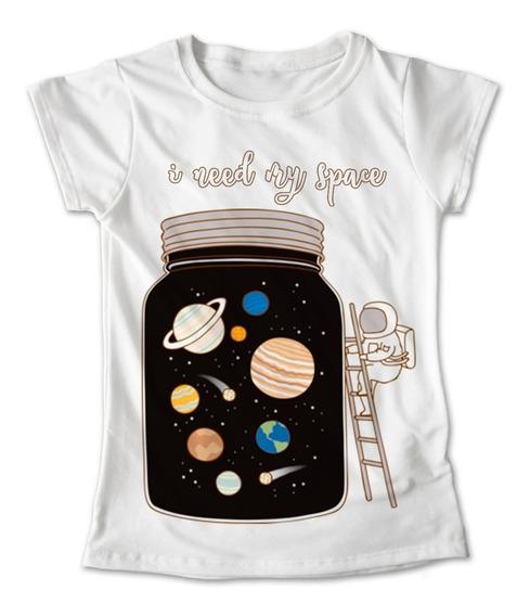 Blusa Espacio Colores Playera Estampado I Need My Space 173
