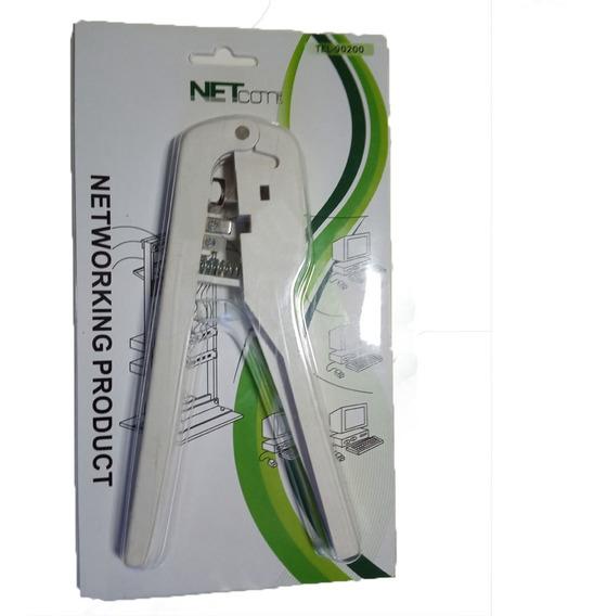 Cripeadora Rj9 Plástica Netcom 6p4c