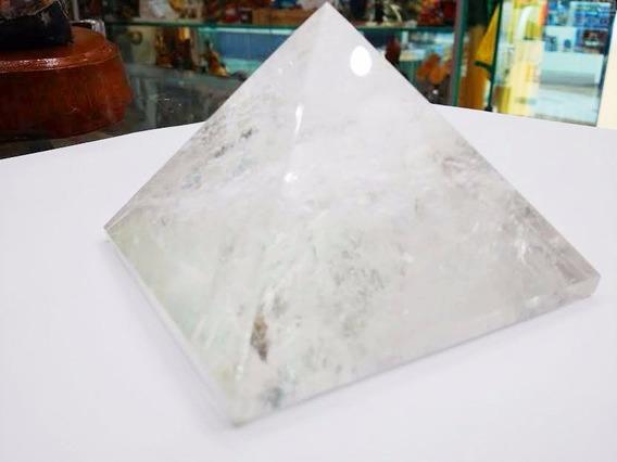 Pirâmide Queóps De Crista 5cm Pedra Da Energia Cod1575