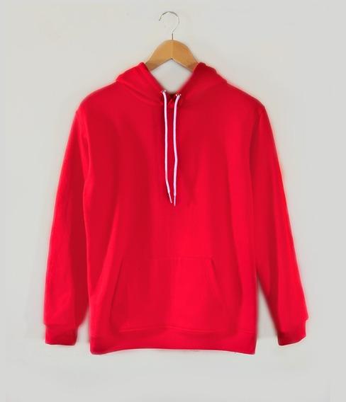 Sudadera/ Hoodie Rojo Liso