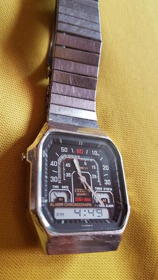 Reloj De Pulsera Vintage Citizen Alarm Chronograph Herradura