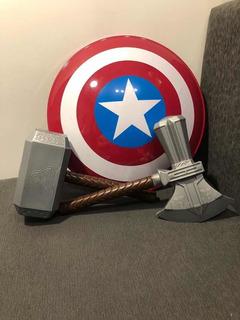 Escudo Capitán América + Martillo + Hacha Thor - 6 Cuo S/int