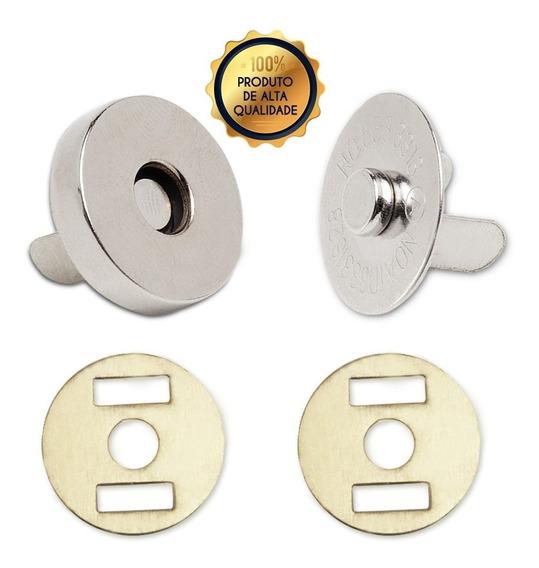 100 Botões Magnéticos Nickel 18mm - Fexo Para Bolsas