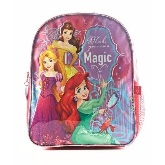 Mochila Escolar Jardín Disney Princesas Wabro Original 12