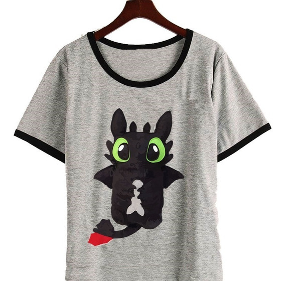 Remera Chimuelo Anime Kawaii 2