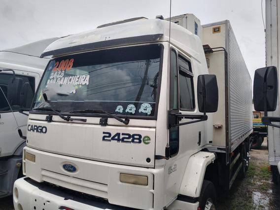 Cargo 2428/07/08 Branco Truck Baú Frigorifico Com Gancheira