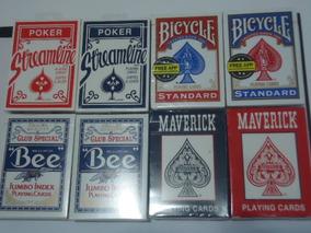 8 Baralhos 2 Bicycle Standard 2 Bee 2 Maverck 2 Streamline