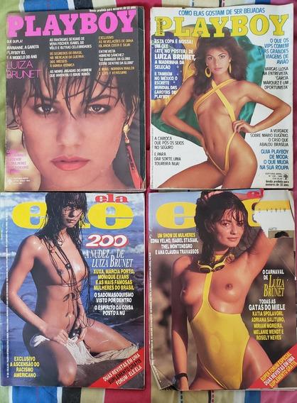 7 Revistas Ele Ela E Playboy Da Luíza Brunet