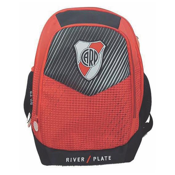 Mochila Espalda Grande 16p Futbol River Plate Ri118 Manias