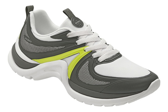 Tênis Azaleia Chunky Sneaker Sem Costura Ugly Shoes Limão