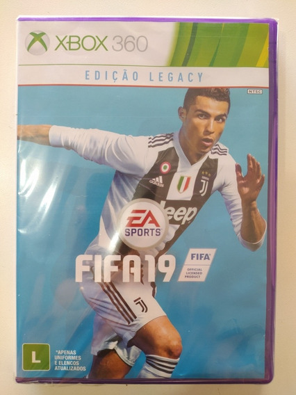 Jogo Fifa 19 Para Xbox 360 Original Mídia Física.
