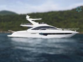 Lancha Intermarine 66 Iate Barco N Cimitarra Azimut Catamara