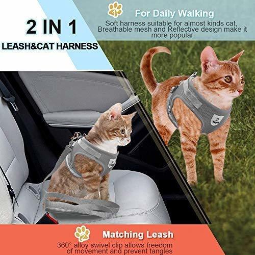 M-pecho arn/és a prueba de escape arn/és para perros peque/ños gatos grandes : 29-40//11.5-15.7, azul abrigos a cuadros cm//pulgadas Arn/és para perro con correa para cachorro