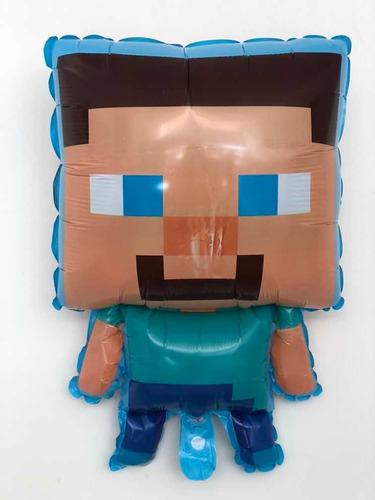 Globo Metalizado De Minecraft