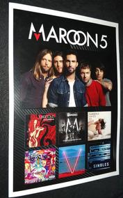 Poster Lp Maroon 5 Adam Levine Vinil Maroon 5 Red Pill Blue