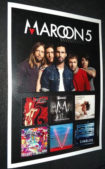 Poster Da Banda Maroon 5 Adam Levine Vinil Maroon 5 Red
