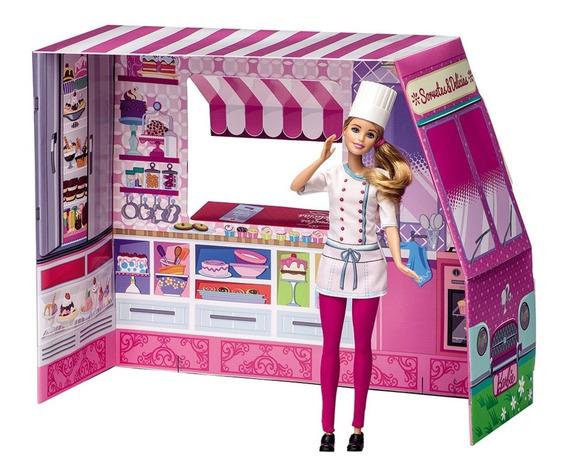 Barbie Massinha Food Truck Sorvetes E Delícias Divertida